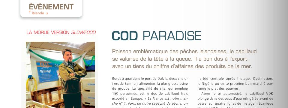 Ektafiskur í franska tímaritinu Produits de la mer